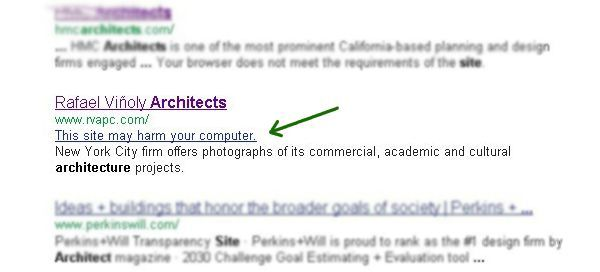 Rafael Vinoly's Website 'May Be Harmful' by Google